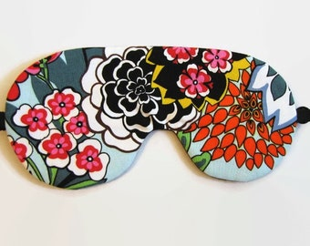 Bold Floral Adustable Sleeping Mask, Eye Mask, Colorful Sleep Mask, Travel Eye Mask