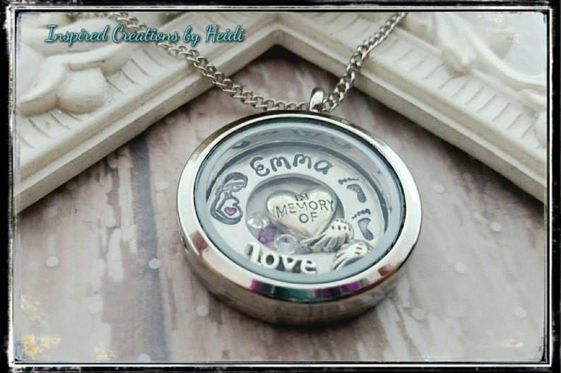 In memory/pregnancy loss jewelry/infant loss jewelry/hand ...