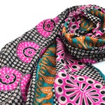 long floral scarf, soft silk scarves, paisley scarf, silk shawl, indian sari, bohemian scarf, boho chic, silk coverup