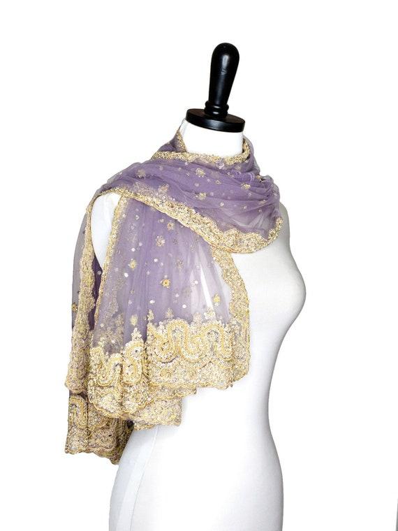 étole châle perlé violet soirée wrap lavande châles de   Etsy afbb2fbc081