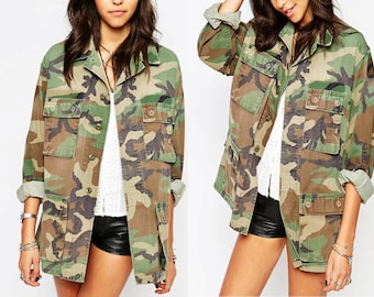 ab18711669e29 All Sizes -Reclaimed Authentic Military Issued Woodland Bdu Camo Jacket