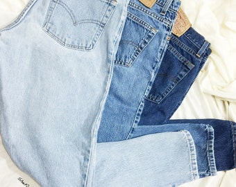 02b541d1745 ALL SIZES Vintage High Waisted Relaxed Fit Tapered Leg Levis