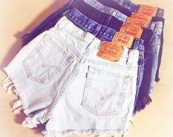 ALL SIZES - Vintage High Waisted Levis Cut Off Denim Shorts