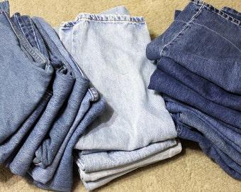 2 Pound Denim Scraps 100% Cotton Fabric (Levis)