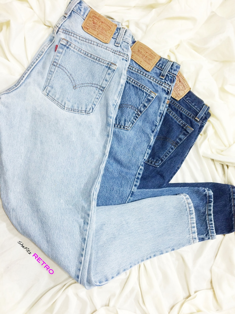 ALL SIZES Vintage High Waisted Relaxed Fit Tapered Leg Levis image 0