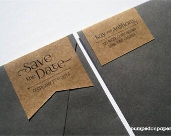 personalized wraparound return address banner labels save etsy