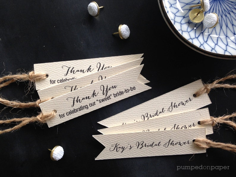bridal shower favor tags with double sided printing set of 20 image 1
