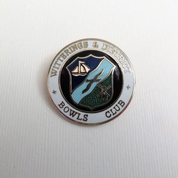 Enamel Pin Vintage Indoors Badge Nairns Bowling Club England Emblem