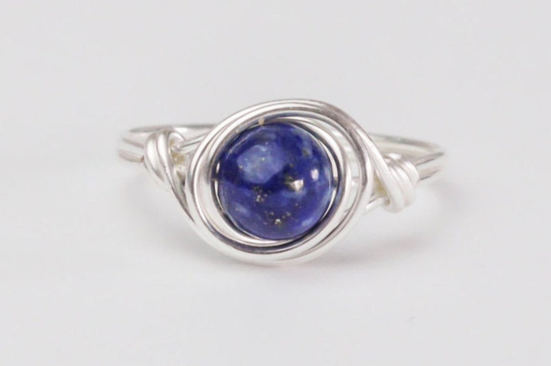 Buy Cheap Beautiful Lapis Lazuli 925 Silver Plated Jewelry Ring Size 8.5 Buy One Give One Jewelry & Watches