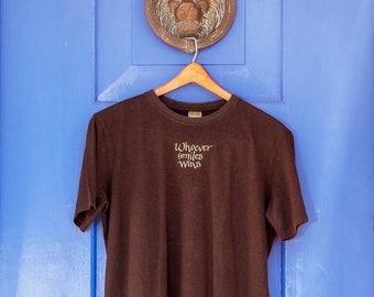 Whoever Smiles Wins Unisex Organic Brown Tee, Ethically Sourced & Environmentally Friendly T-Shirt,