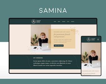 Wix Website Template Design for Coaches and Freelance Professionals    Samina   Modern and Elegant Website Design