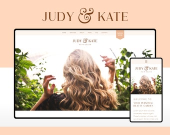 Wix Website Template Design for Hair and Beauty Salons   Judy & Kate   Modern and Elegant Website Design