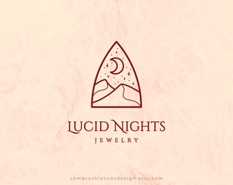 Premade Logo Design for Jewelry Brands, Desert Window Premade Logo Design, Vector Files, Illustrated Logo, Modern Logo for Small Business