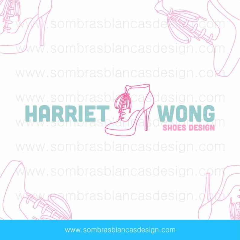bfeb9853f Diseño de logotipos predefinidos OOAK zapato rosado   Etsy