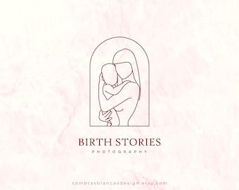 Premade Logo Design for Maternity Brands, Mom and Baby Premade Logo Design, Vector Files, Illustrated Logo, Motherhood Logo, Doula Logo