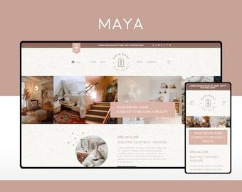 Wix Website Template Design for Home Decor Shops    Maya   Modern and Elegant E-commerce Website Design