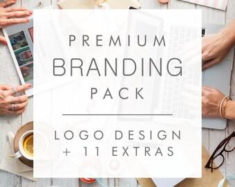 Custom Logo Design + 11 extras - Premium Branding Pack – Logo Design Package, Professional Custom Logo, Business Logo, Logo Design Service