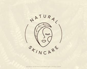 Premade Logo Design for Skincare Brands, Natural Skincare Logo, Vector Files, Illustrated Beauty Salon Watermark, Modern Branding