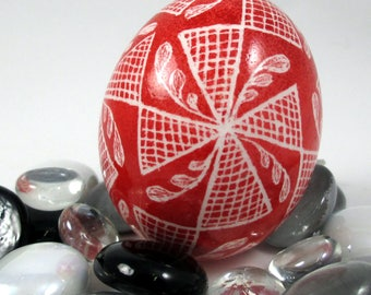 Pysanky, Pisanki, Ukrainian Egg, Polish Easter Egg, Skrobanki, Easter Egg, Ukrainian Easter Egg, Scratched Egg, Pysanky Egg, Red Windmill
