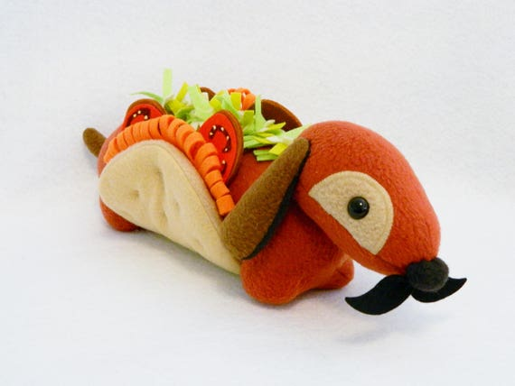 Stuffed Taco Wiener Dog Plush Animal Etsy