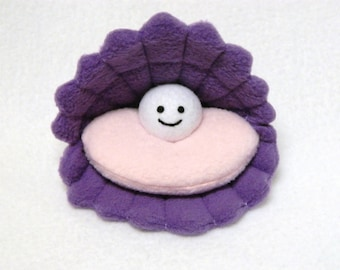Oyster pearl plush toy 5x5