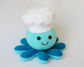 Stuffed Chef Octopus plush toy chef hat