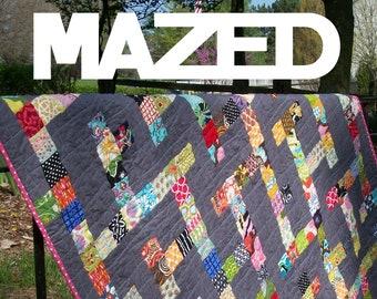 Digital Download PDF Modular Maze Quilt by Sarah Ruiz Quilts
