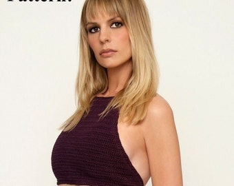 PATTERN ONLY crochet halter top
