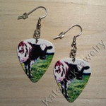 Pink Floyd Atom Heart Mother Guitar Pick Earrings