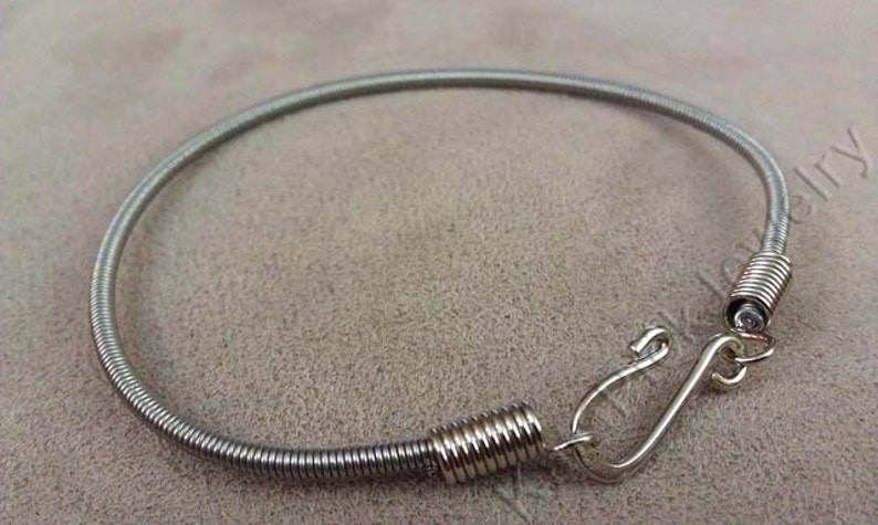 Hand Crafted Bass Guitar String Bracelet image 0