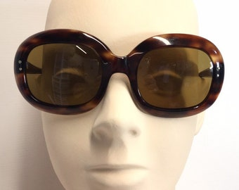 6f4a52f3009 Huge Vintage Faux Tortoise Shell Sunglasses Made in France