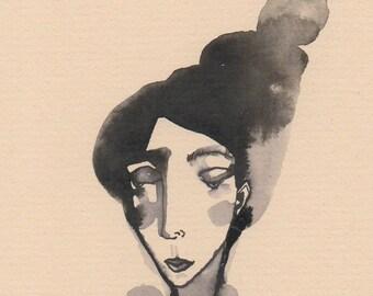Portrait Of A Young Woman...An Original Illustration