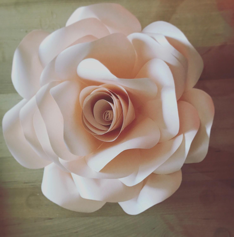 Rose Paper Flower Template Diy Etsy