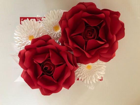 Oversized greeting card 11x14 handmade paper flowers etsy image 0 m4hsunfo