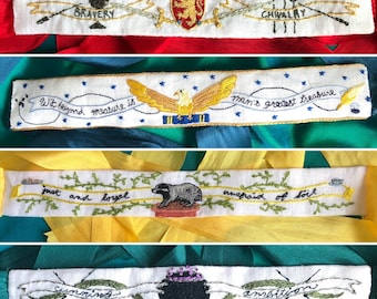 Founders Bundle -  4 Magical 18th Century Hand Embroidered Garters - Digital PDF Pattern Download