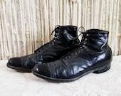 Antiuqe 1920s 1930s Cap Toe Lace Up Ankle Boots Men 39 s Size 9 9.5