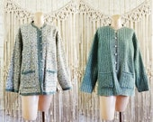 Vtg 70s Lightweight Quilted Reversible Indian Cotton Printed Jacket size L