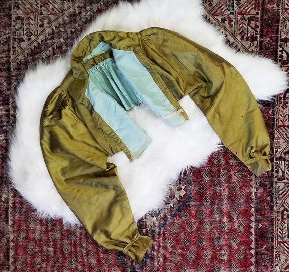Antique 1800s Victorian Era Satin Jacket / free si