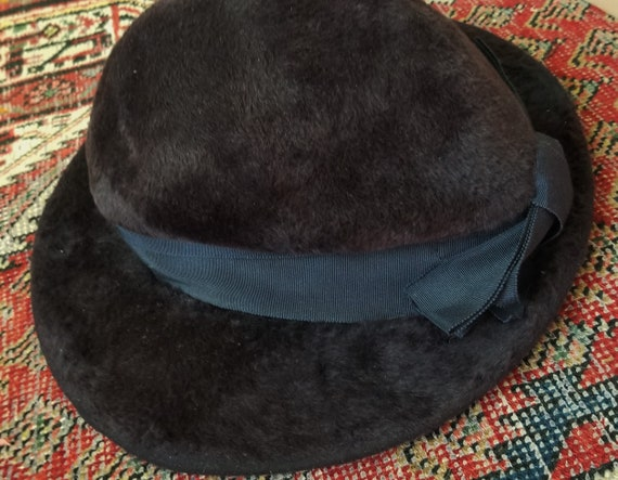 Antique 1910s / 1920s Slouchy Velvet Witchy Hat - image 8