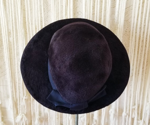 Antique 1910s / 1920s Slouchy Velvet Witchy Hat - image 7