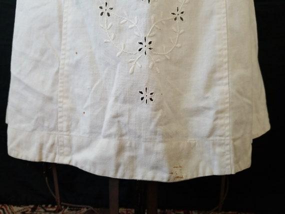 Antique 1900s Edwardian Era Embroidered Skirt / s… - image 7