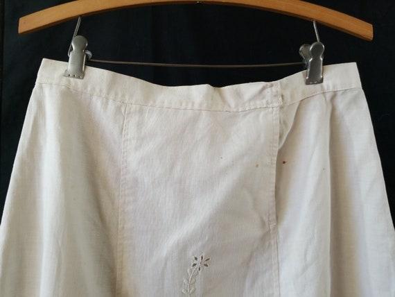 Antique 1900s Edwardian Era Embroidered Skirt / s… - image 3