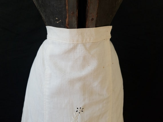 Antique 1900s Edwardian Era Embroidered Skirt / s… - image 8