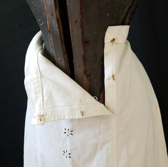 Antique 1900s Edwardian Era Embroidered Skirt / s… - image 4