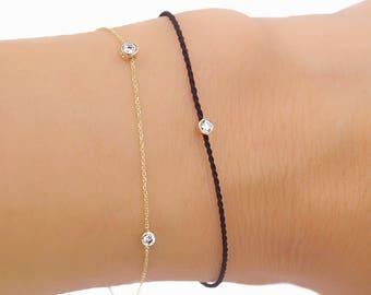 Silk Cord Diamond Bracelet