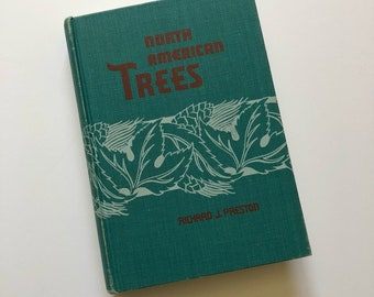 1950 North American Trees Field Guide Book