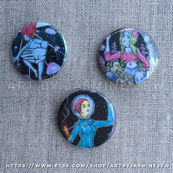 Set of 3 Buttons - Nature