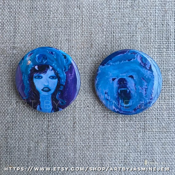 Set of 2 Buttons - Bear Cub
