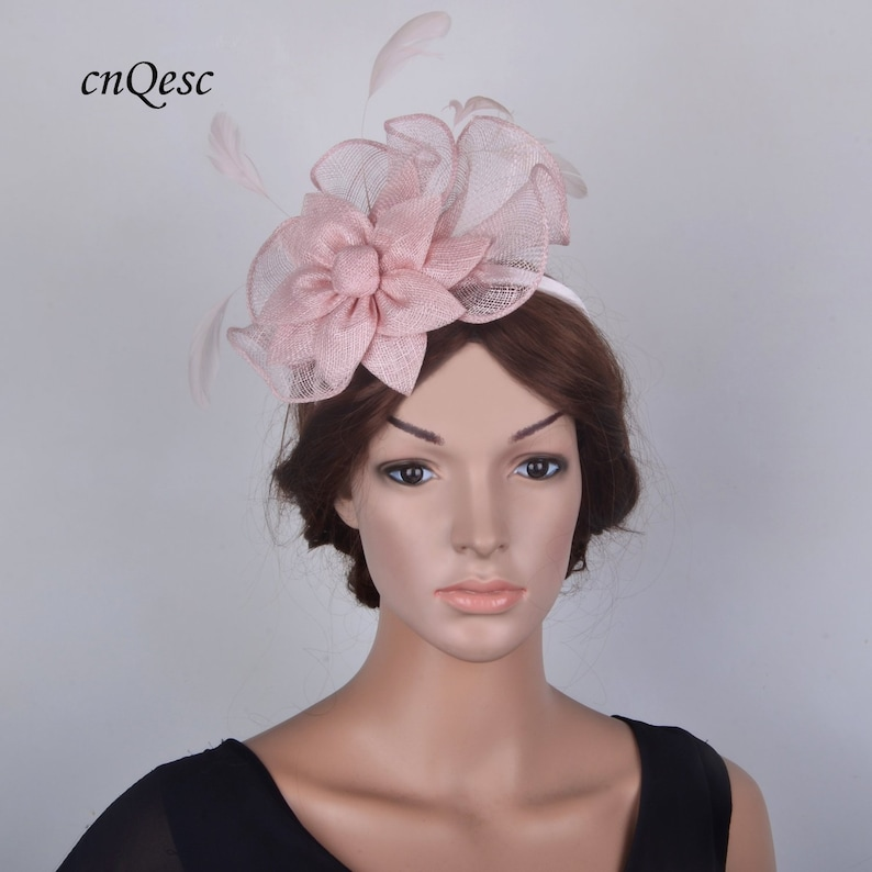 99cafebac16eb Pale pink sinamay fascinator formal hat for Royal Ascot | Etsy