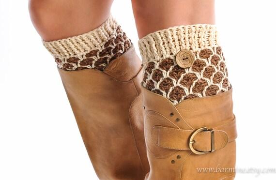 Damen Stiefel Stulpen Stulpen Häkeln Wolle Knit Boot Topper | Etsy